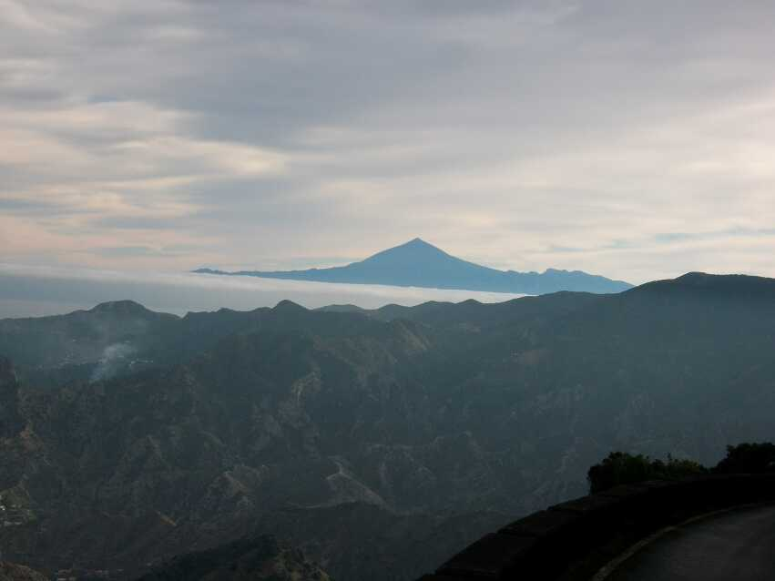 auf dem Weg nach Epina, Blick auf den Teide
