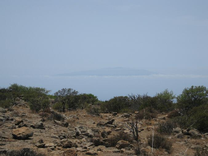 El Hierro von der Fortaleza aus gesehen