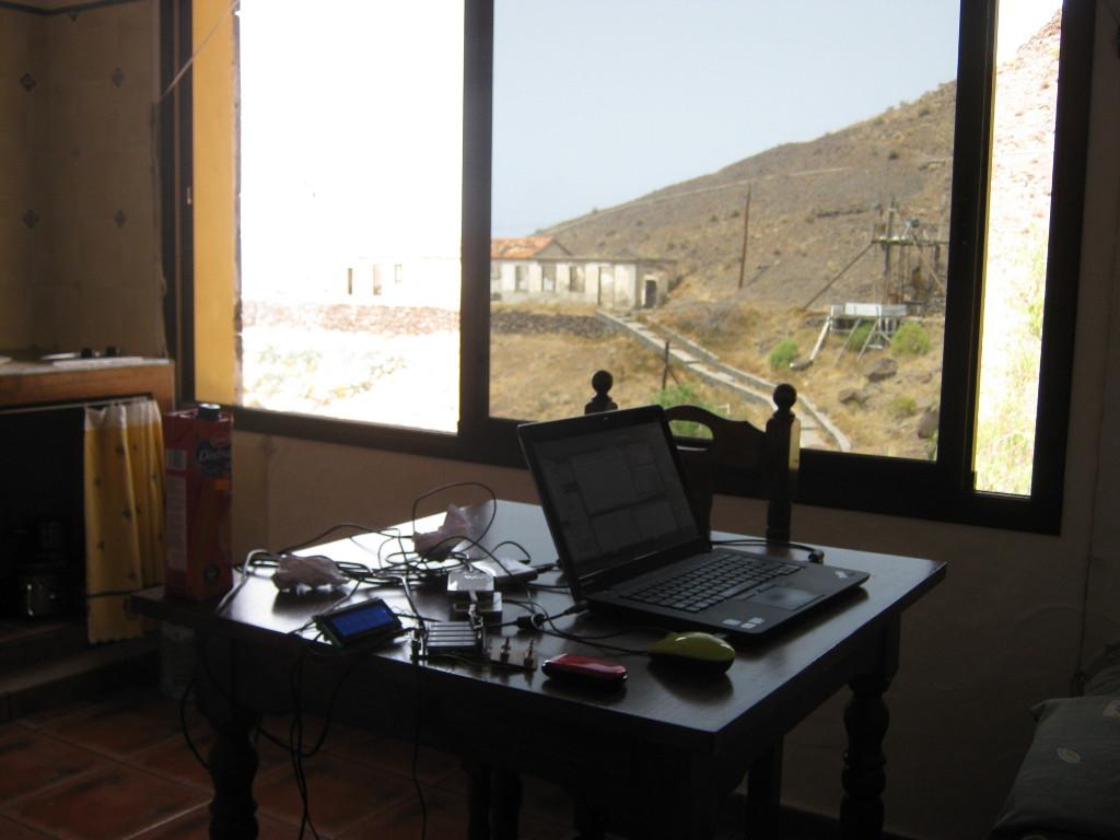 Mein Arbeitsplatz im Apartamento bei Flor