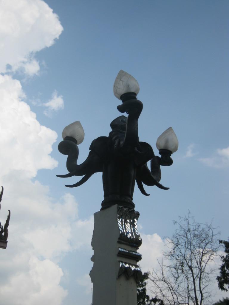 Erawan Marktplatz Strassenlaterne